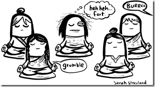 vipassana meditation cartoon
